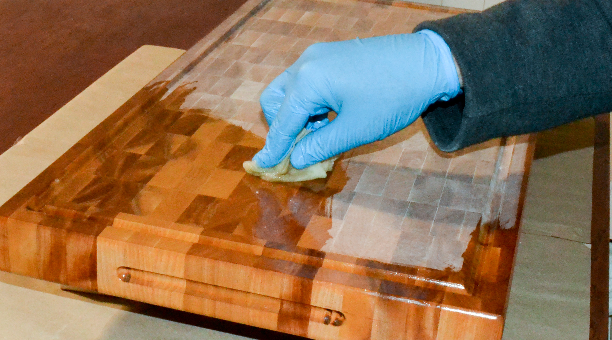 how to clean cutting board surface