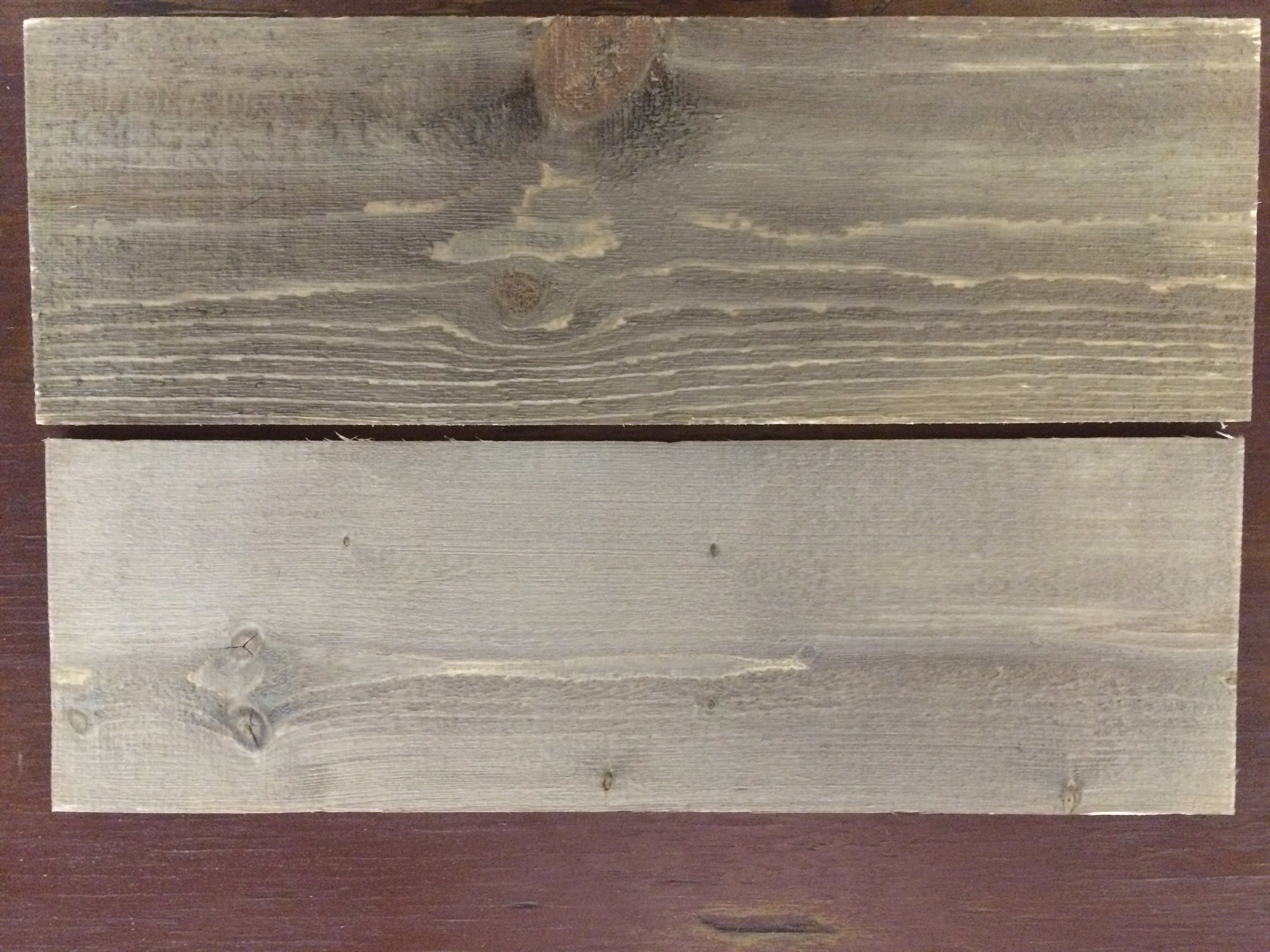 Once the wood has dried you have a very nice reclaimed barn wood imitation