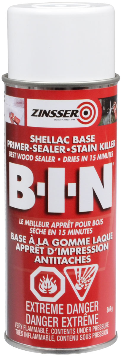 bin primer sealer stain killer spray zinsser