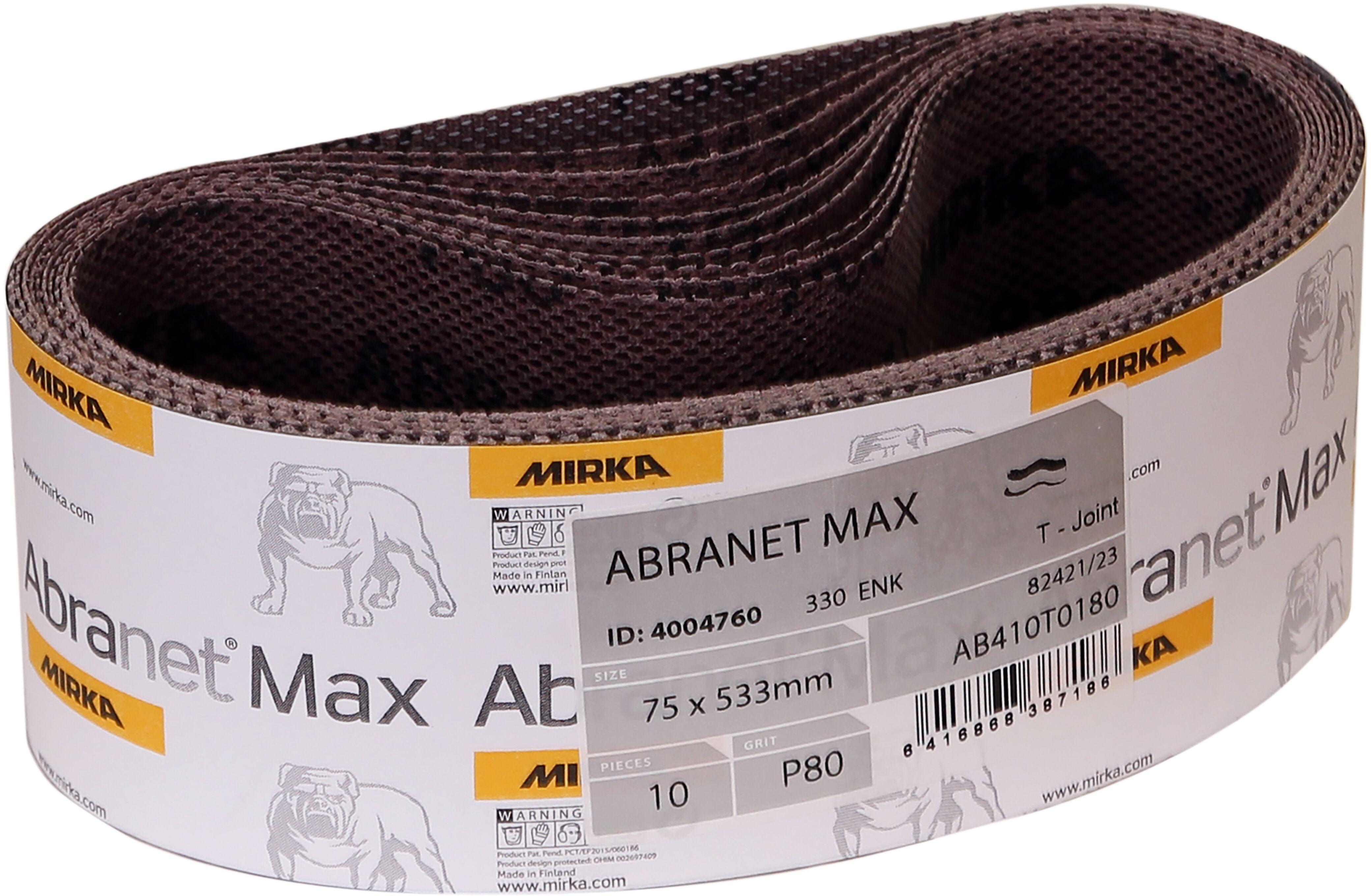 Mirka AB-3-21-080T 80 Grit Abranet MAX Portable Abrasive Belt