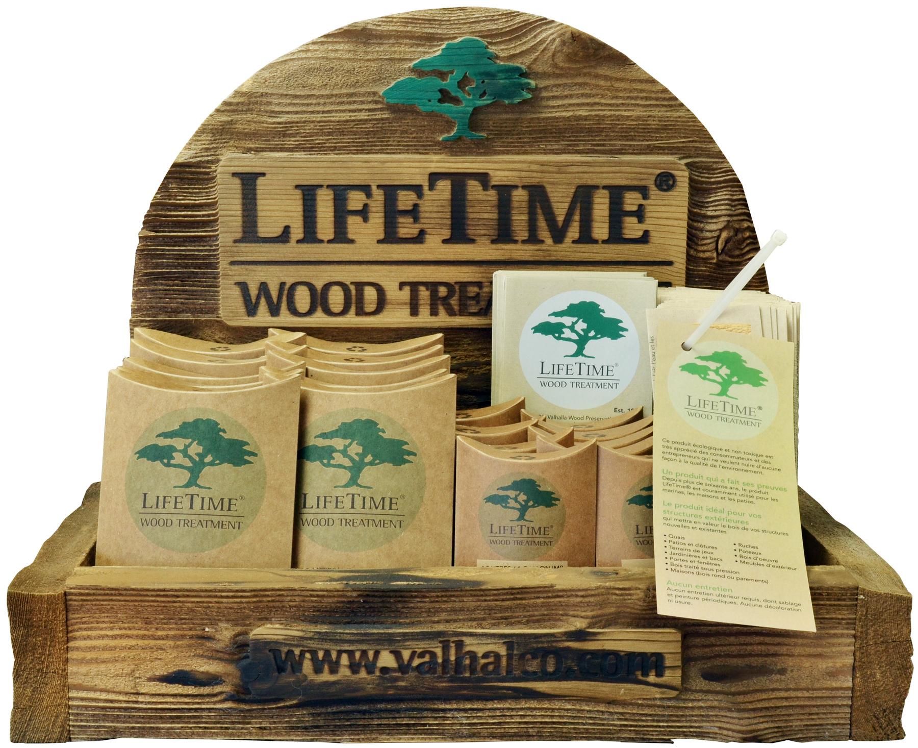 produit traitement bois exterieur ... Présentoir Lifetime traitement pour bois ...