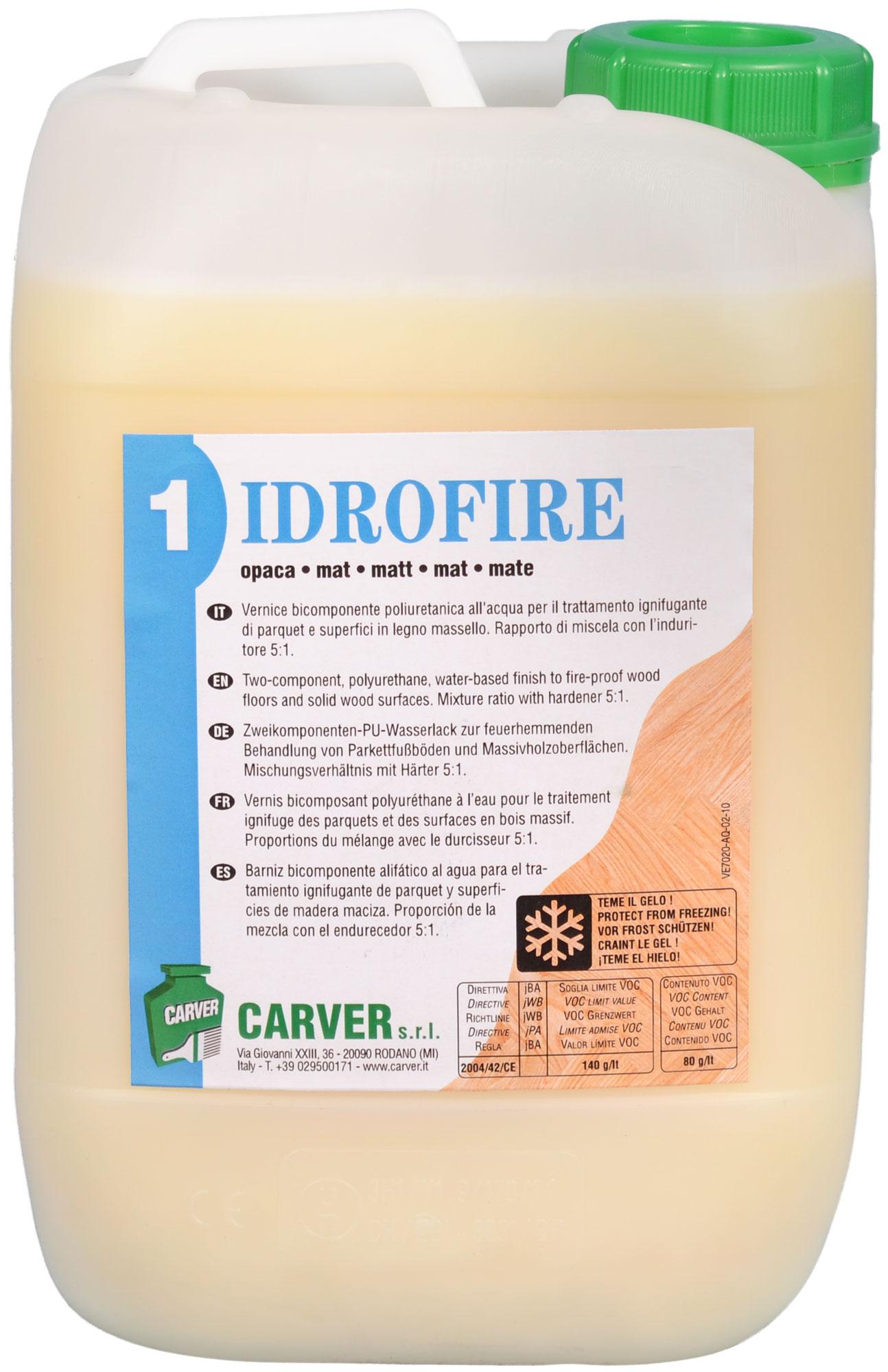 idrofire vernis ignifuge carver produits pour planchers en bois. Black Bedroom Furniture Sets. Home Design Ideas