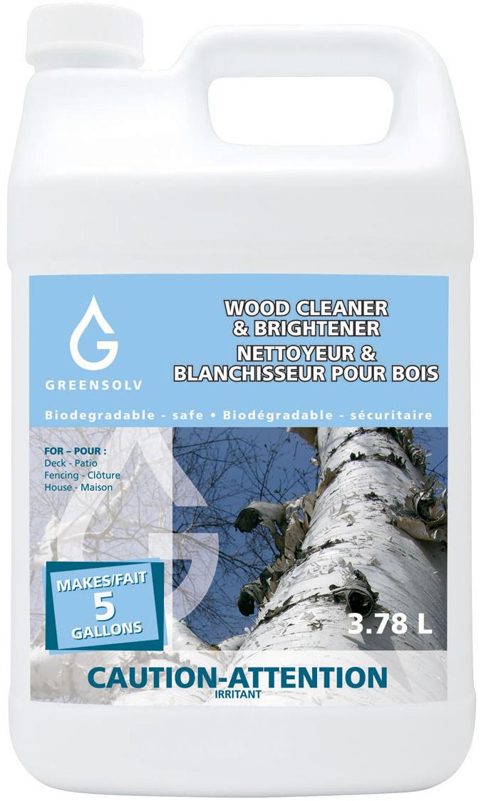 Nettoyeur blanchisseur pour bois greensolv inc produits environnementaux - Acide oxalique bois exotique ...