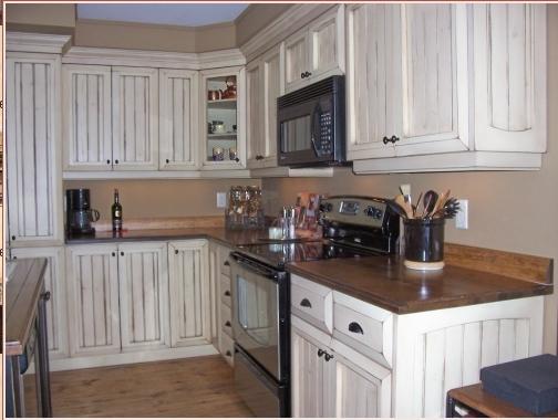 Comment r aliser ce faux fini - Peinture d armoire de cuisine ...