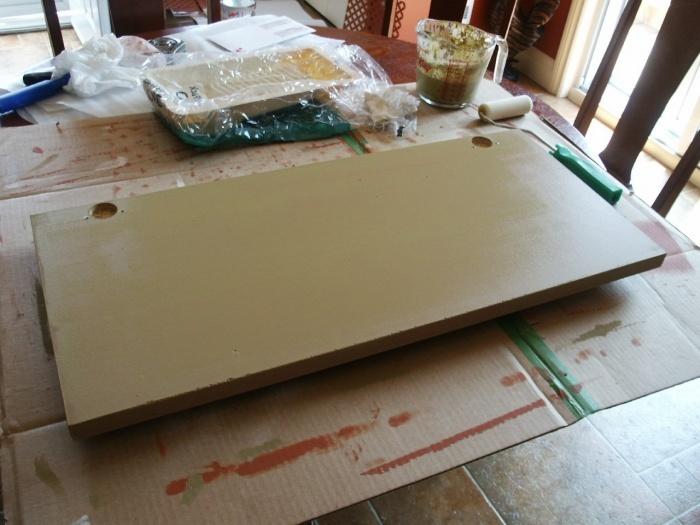 Restauration d 39 armoire de m lamine - Peinture pour melamine ...