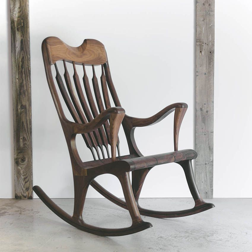 chaise ber ante en bois massif