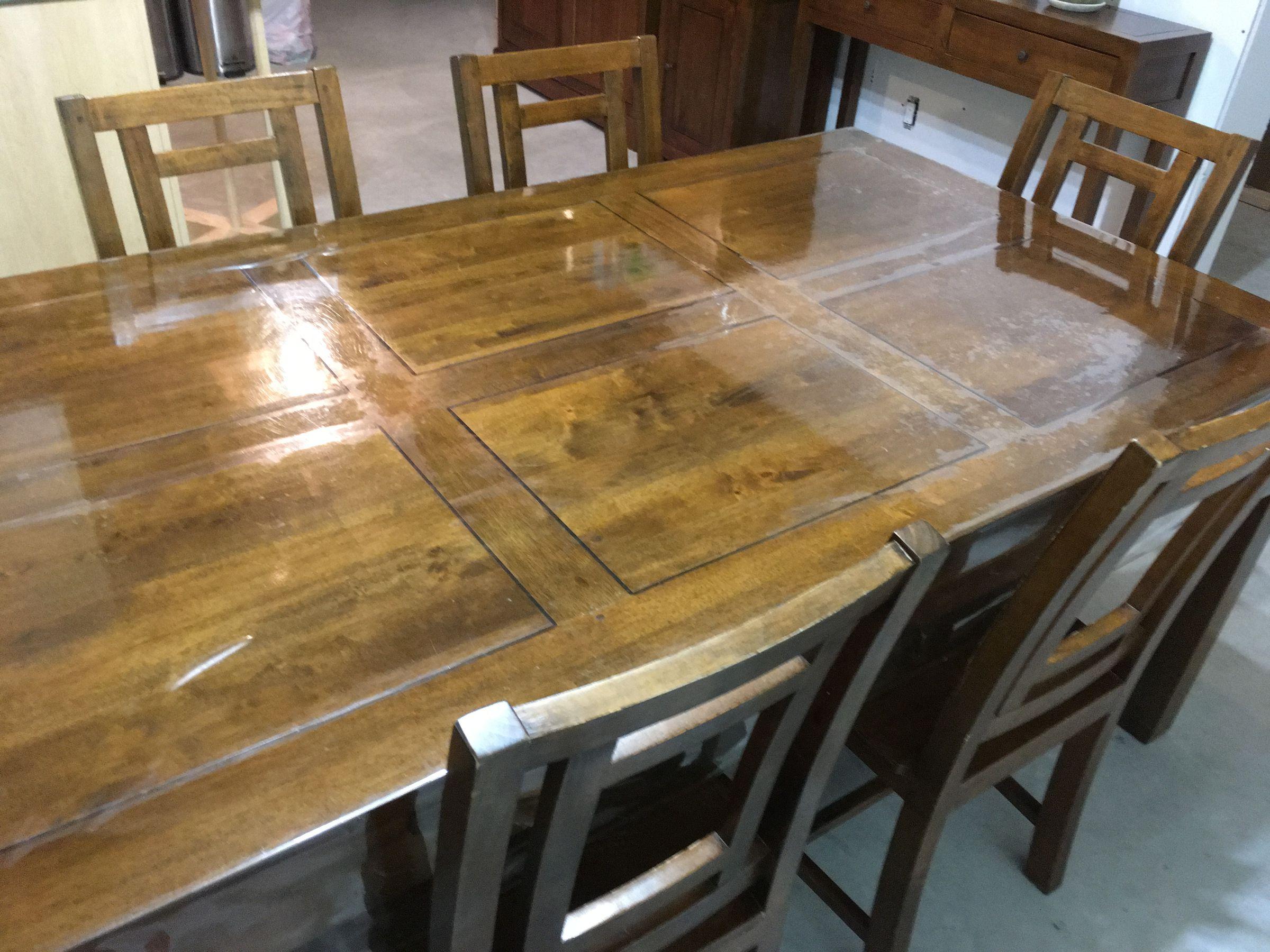 Nappe transparente laiss d p ts sur table - Nappe plastique transparente pour table ...