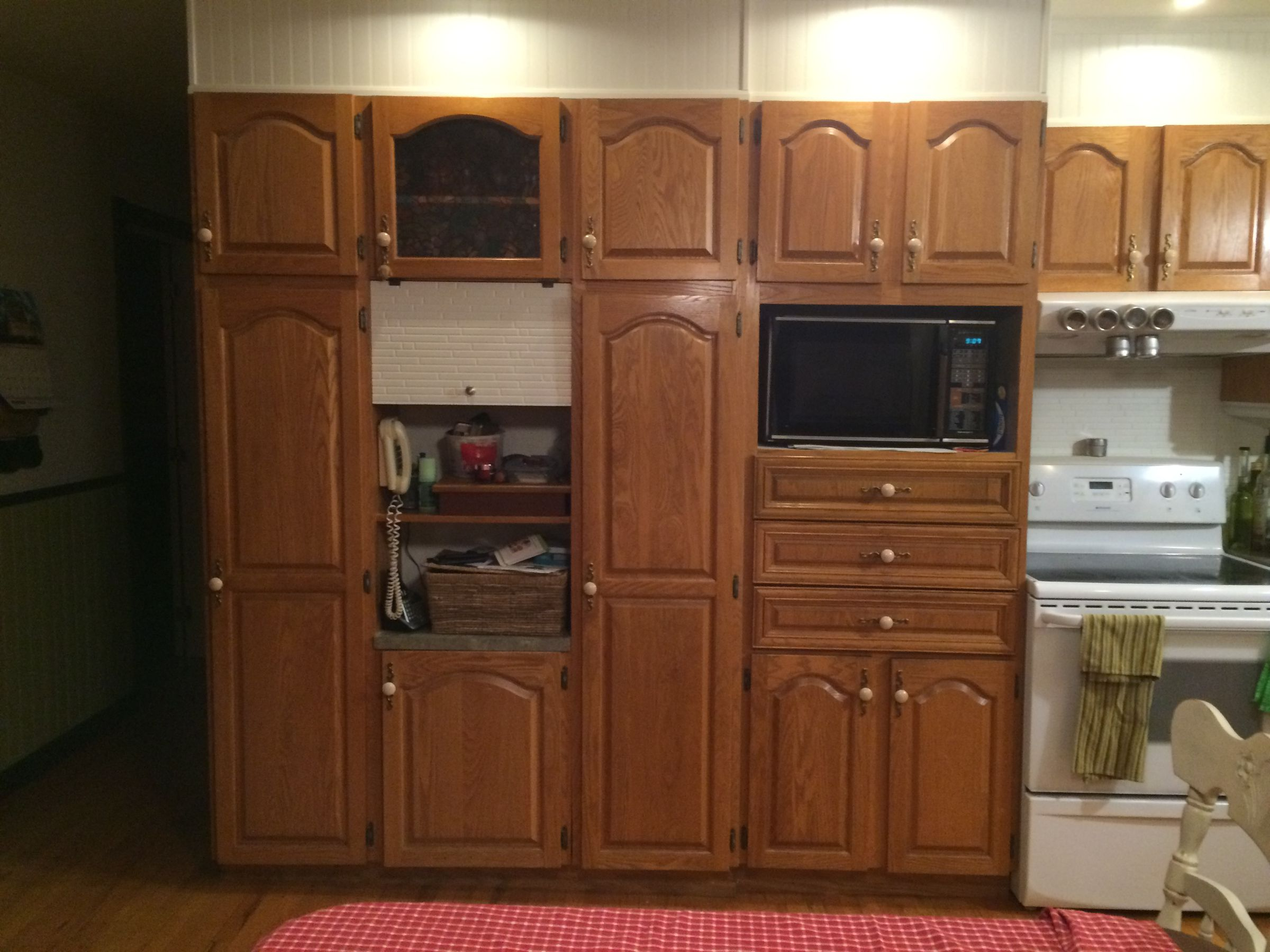 armoire cuisine en ch ne. Black Bedroom Furniture Sets. Home Design Ideas