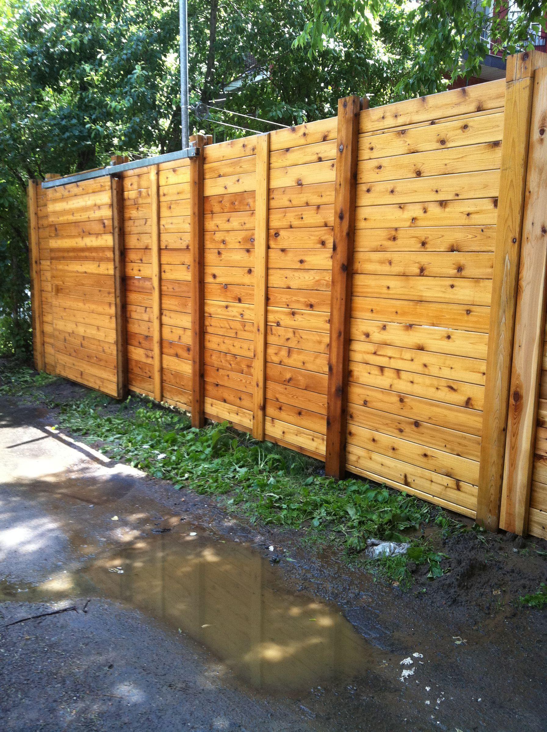 Cloture en cedre nettoyer et restaur avec les produis pareo - Couleur de teinture pour patio ...