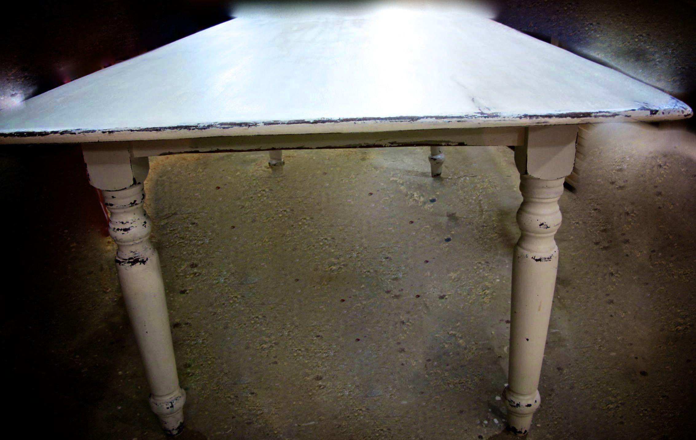 table fini antique blanche 80 x 40 la boite pin. Black Bedroom Furniture Sets. Home Design Ideas
