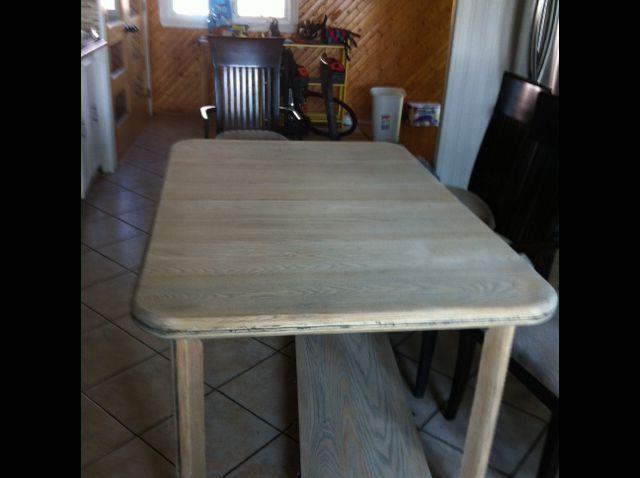 table de cuisine en frêne