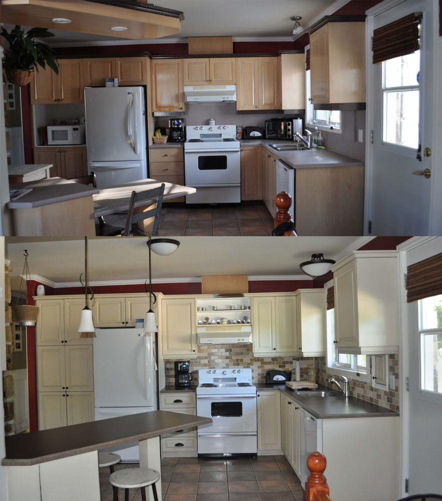 Armoires de cuisine la peinture de lait - Peinture d armoire de cuisine ...