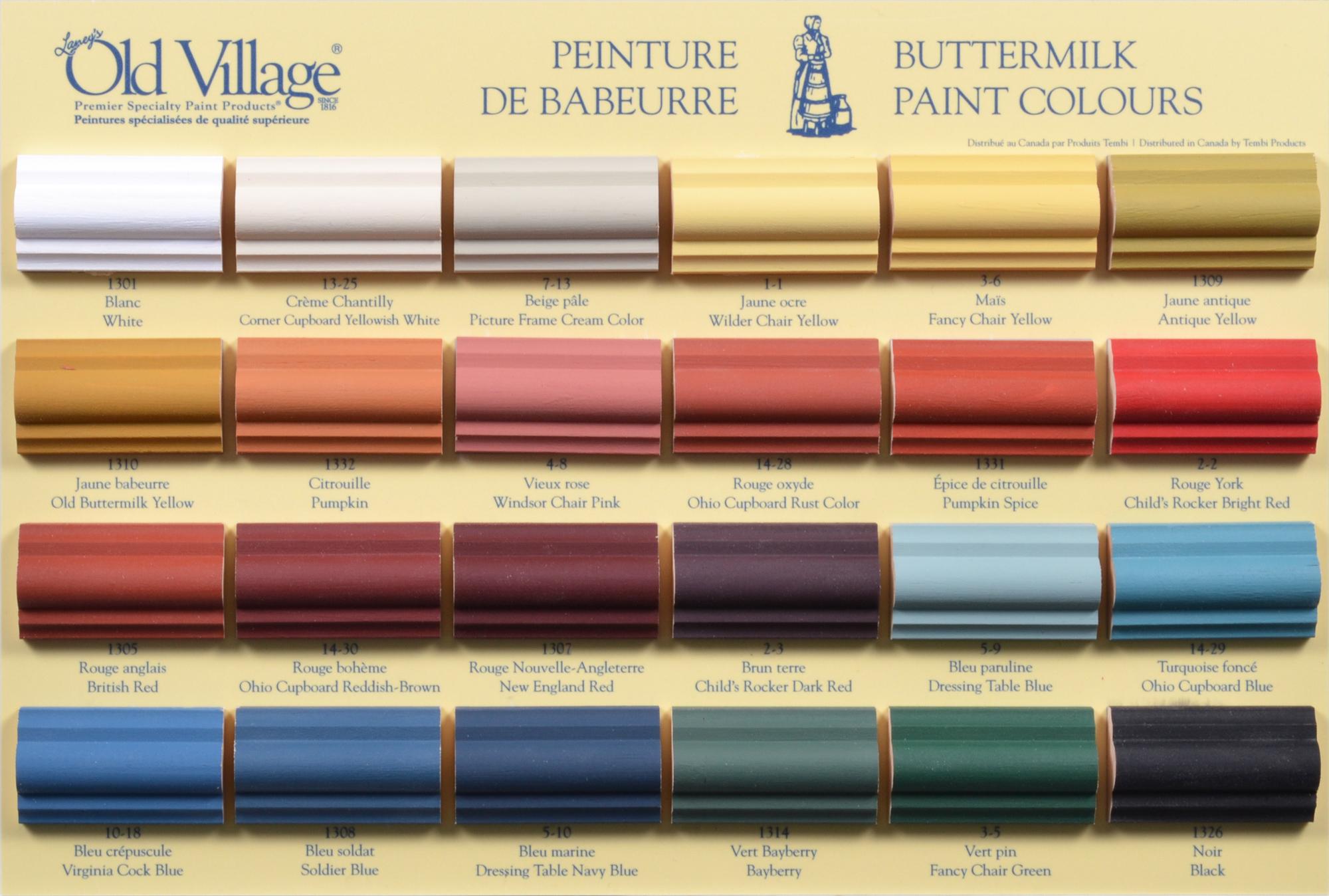 Modele Cuisine Gedimat : Old Village Paint Color Chart