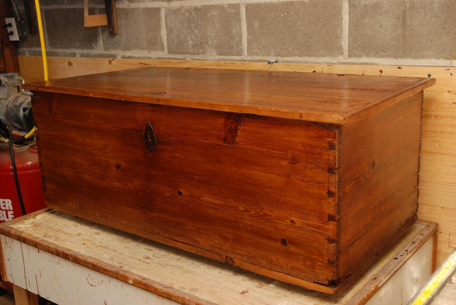 Vieux coffre - Coffre en bois a peindre ...